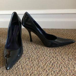 Roberto Vianni blue metallic pointed heels